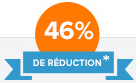 46% de réduction