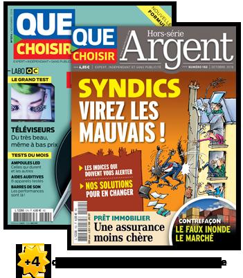 Abonnement magazine mensuel Que Choisir + Que Choisir Argent